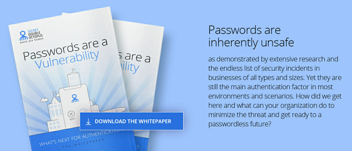 passwords are a vulnerability whitepaper
